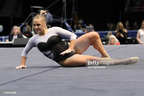 Georgia gymnast Rachel Baumann 7during the Elevate the Stage Meet on March 8 2019 at Legacy Arena in Birmingham Alabama