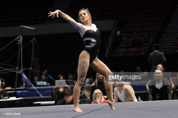 Georgia gymnast Sydney Snead during the Elevate the Stage Meet on March 8 2019 at Legacy Arena in Birmingham Alabama