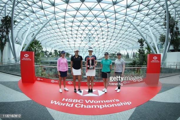 Georgia Hall of England Lexi Thompson of the United States Michelle Wie of United States So Yeon Ryu of South Korea and Ariya Jutanugarn of Thailand...