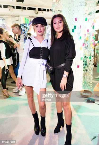 Georgia Harrison and Montana Brown attend the launch party of Pass on Plastic a pop up ocean experience that opens From 824 June at 20 Beak Street in...