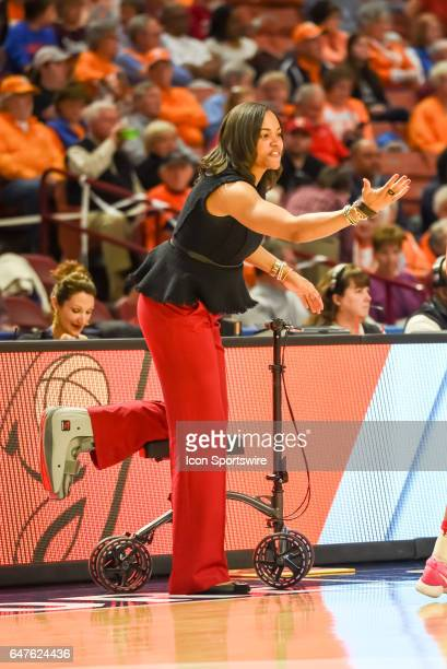 Georgia head coach Joni Taylor during 1st half action between the Auburn Tigers and the Georgia Bulldogs on March 02 2017 at Bon Secours Wellness...