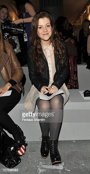 Georgia Henley seen at the front row at the Unique show at London Fashion Week Autumn/Winter 2011 on February 20 2011 in London England