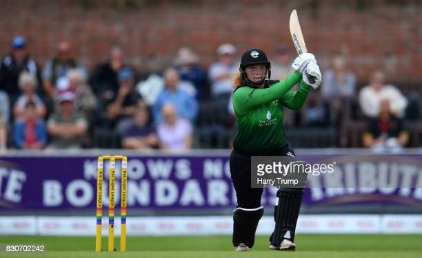 Georgia Hennessy of Western Storm bats during the Kia Super League 2017 match between Western Storm and Loughborough Lightning at The Cooper...