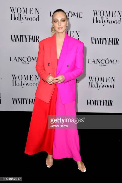 Georgia Hirst arrives at Vanity Fair and Lancôme Women In Hollywood Celebration at Soho House on February 06 2020 in West Hollywood California