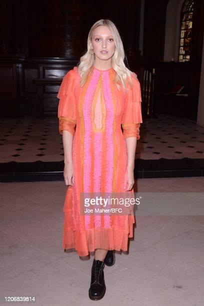 Georgia Hirst attends the Bora Aksu show during London Fashion Week February 2020 on February 17 2020 in London England