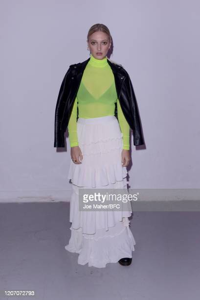 Georgia Hirst The Mark Fast show during London Fashion Week February 2020 on February 18 2020 in London England