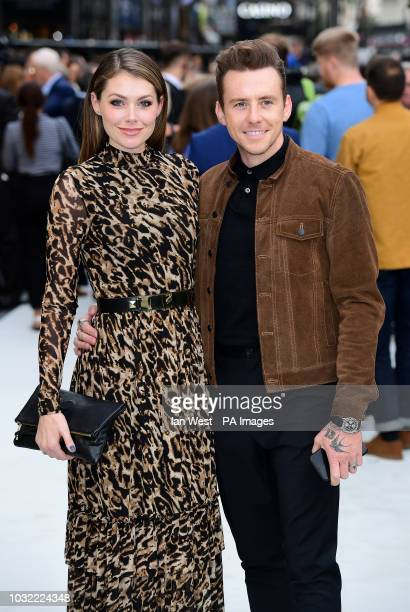 Georgia Horsley and Danny Jones arriving for the King of Thieves World Premiere held at Vue West End Leicester Square London