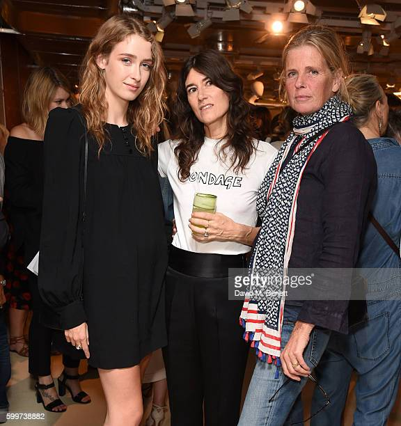 Georgia Howorth Bella Freud and Jeny Howorth attend the launch of Bella Freud's new fragrance at Fenwick Of Bond Street on September 6 2016 in London...