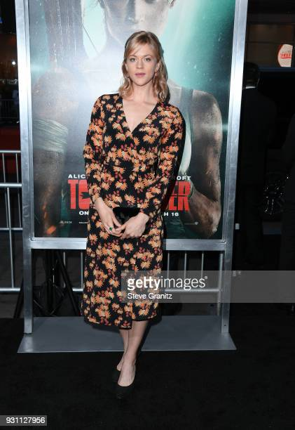 Georgia King attends the premiere of Warner Bros Pictures' 'Tomb Raider' at TCL Chinese Theatre on March 12 2018 in Hollywood California