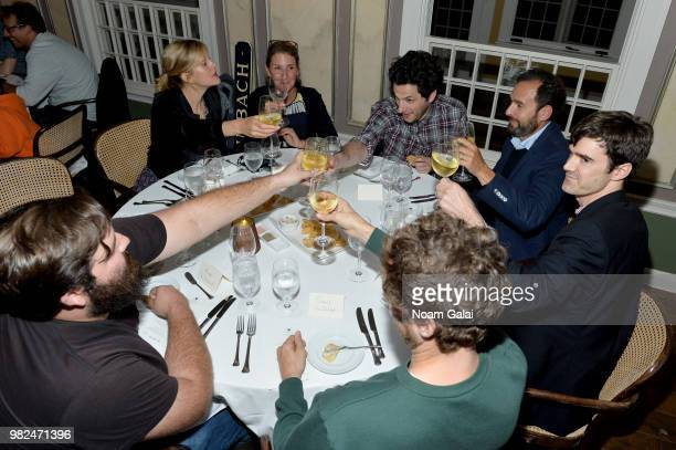 Georgia King Ben Schwartz Mark Coladonato and Thomas Middleditch attend the Screenwriters Tribute dinner at the 2018 Nantucket Film Festival Day 4 on...