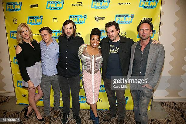 Georgia King David Gordon Green Jody Hill Kimberly Hebert Gregory Danny McBride and Walton Goggins attend the premeire of HBO's Vice Principals at...