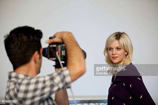 Georgia King is photographed behind the scenes of The Hollywood Reporter's Emmy Supporting Actor Portrait shoot at Siren Orange Studios for The...