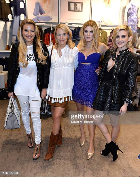 Georgia Koulousou Lydia Bright Ashley James and Ashley Roberts at the launch of The Edit Matalan's new SS16 collection on March 17 2016 in London...