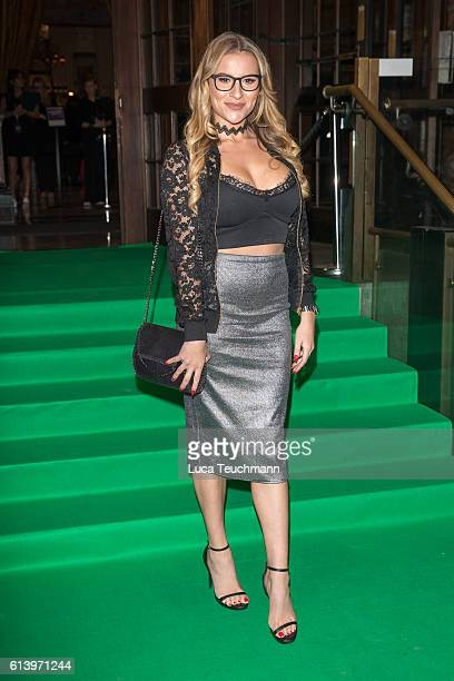 Georgia Kousoulou attends the Spectacle Wearer of the Year awards on October 11 2016 in London England