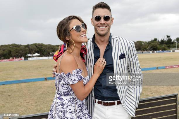 Georgia Love and Lee Elliott attends Portsea Polo on January 13 2018 in Melbourne Australia