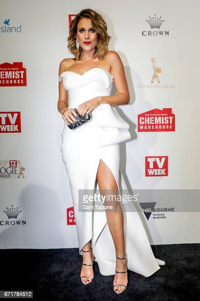 Georgia Love arrives at the 59th Annual Logie Awards at Crown Palladium on April 23 2017 in Melbourne Australia