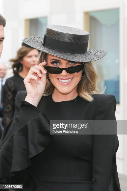 Georgia Love enjoying Derby Day at the 2018 Melbourne Cup Carnival