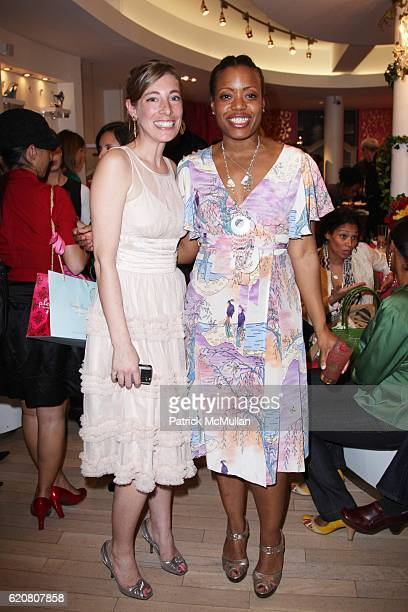 Georgia Mack and Tracy Reese attend TRACY REESE Secret Garden Party at Tracy Reese Boutique on March 27 2008 in New York City
