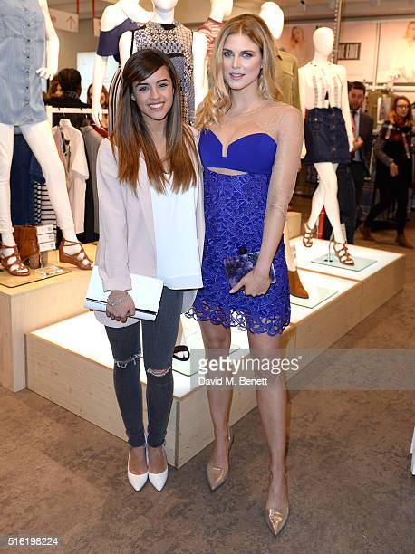 Georgia May Foote and Ashley James at the launch of The Edit Matalan's new SS16 collection on March 17 2016 in London England