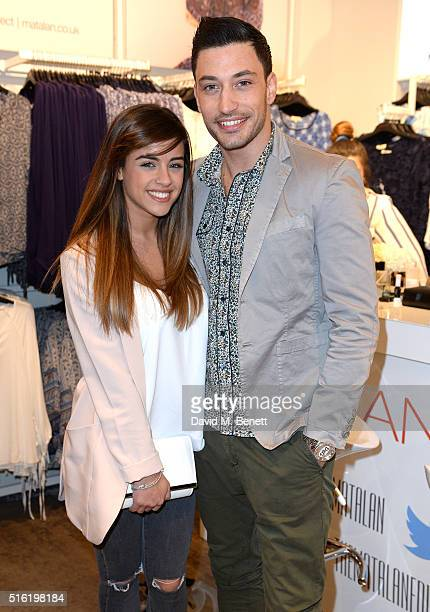 Georgia May Foote and Giovanni Pernice at the launch of The Edit Matalan's new SS16 collection on March 17 2016 in London England