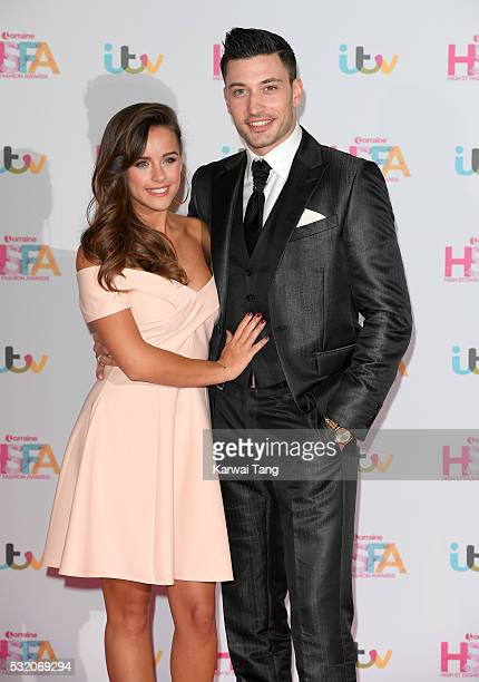 Georgia May Foote and Giovanni Pernice attend the Lorraine's High Street Fashion Awards at Grand Connaught Rooms on May 17 2016 in London England