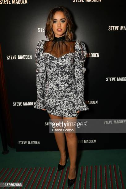 Georgia May Foote attends a cocktail party to celebrate the Steve Madden boutique store opening on November 14, 2019 in London, England.