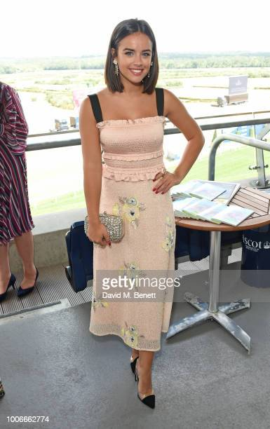 Georgia May Foote attends the King George Weekend at Ascot Racecourse on July 28 2018 in Ascot England