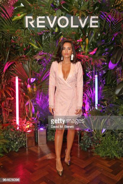 Georgia May Foote attends the REVOLVE 'LA Party In London' hosted by Winnie Harlow at Hotel Cafe Royal on May 31 2018 in London England