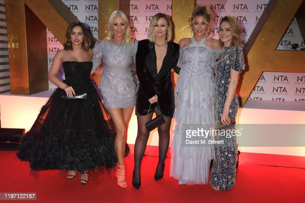 Georgia May Foote, Denise van Outen, Kimberley Walsh, Lydia Bright and Kara Tointon attend the National Television Awards 2020 at The O2 Arena on...