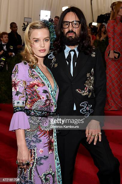 Georgia May Jagger and Alessandro Michele attend the 'China Through The Looking Glass' Costume Institute Benefit Gala at the Metropolitan Museum of...