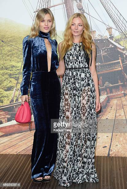 Georgia May Jagger and Clara Paget attend the World Premiere of 'Pan' at Odeon Leicester Square on September 20 2015 in London England