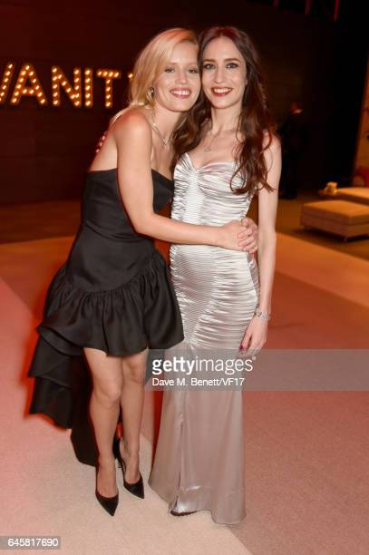 Georgia May Jagger and Elizabeth Jagger attend the 2017 Vanity Fair Oscar Party hosted by Graydon Carter at Wallis Annenberg Center for the...