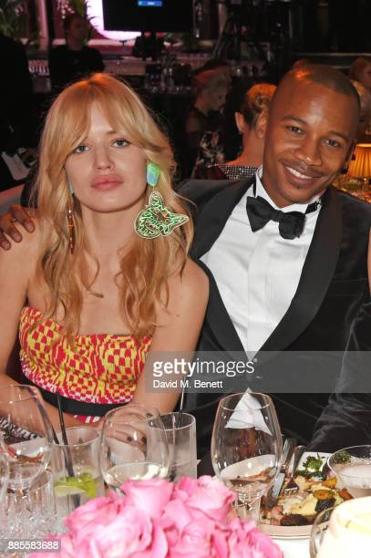 Georgia May Jagger and Eric Underwood attend a drinks reception ahead of The Fashion Awards 2017 in partnership with Swarovski at Royal Albert Hall...