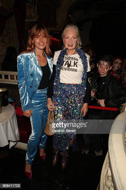 Georgia May Jagger and Vivienne Westwood attend as Dame Vivienne Westwood's Climate Revolution hosts a student night at The Box on September 20 2016...