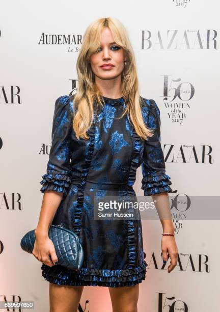 Georgia May Jagger arrives at the Harper's Bazaar Woman Of The Year Awards held at Claridges Hotel on November 2, 2017 in London, England.