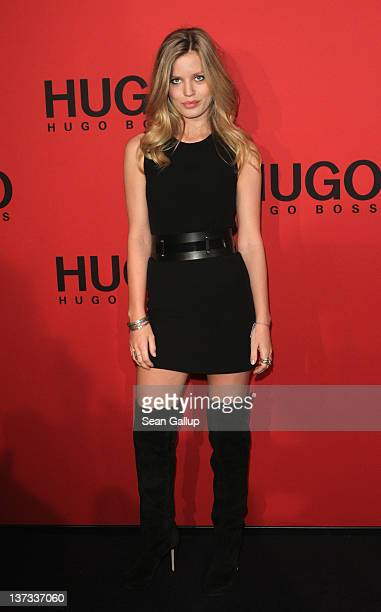 Georgia May Jagger arrives at the Hugo by Hugo Boss Autumn/Winter 2012 fashion show during MercedesBenz Fashion Week Berlin at Gemaldegalerie on...