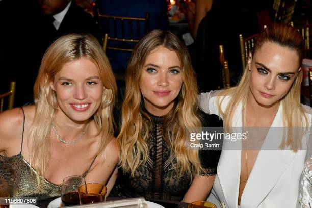 Georgia May Jagger, Ashley Benson and Cara Delevingne attend TrevorLIVE NY 2019 at Cipriani Wall Street on June 17, 2019 in New York City.