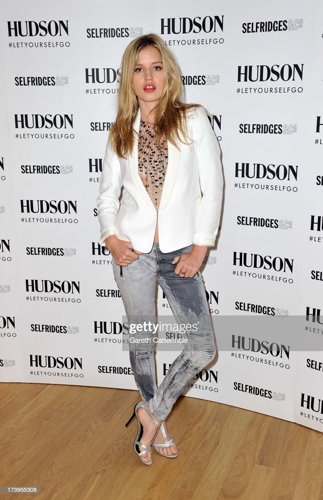 Georgia May Jagger Launches Hudson Jeans AW13 Campaign - Photocall : News Photo