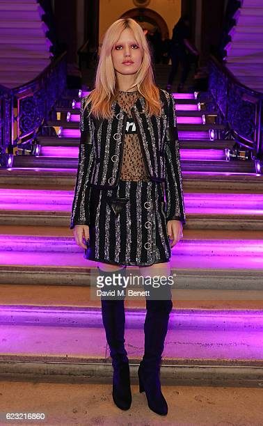 Georgia May Jagger attends Stuart Weitzman's private VIP dinner at Royal Academy of Arts to celebrate opening of it's London flagship boutique on...