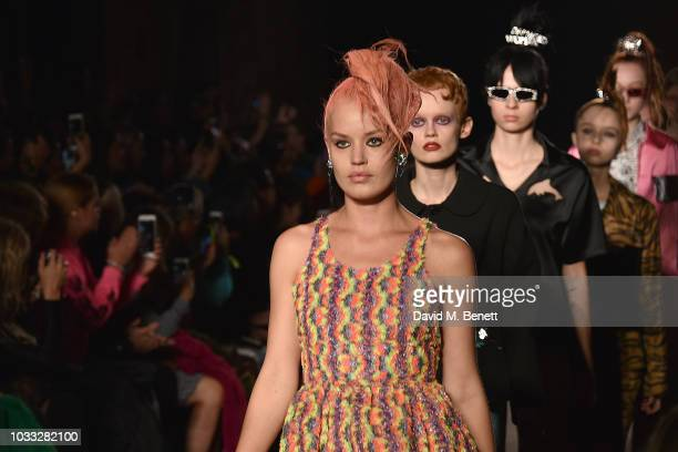 Georgia May Jagger attends the Ashley Williams front row during London Fashion Week September 2018 at House of Vans on September 14 2018 in London...