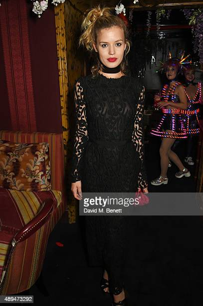 Georgia May Jagger attends the Love Magazine miu miu London Fashion Week party at Loulou's on September 21 2015 in London England