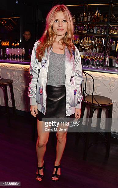 Georgia May Jagger attends the Marchesa S/S 2015 after party sponsored by Revlon at Le Peep Boutique on September 13 2014 in London England