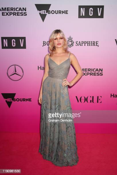 Georgia May Jagger attends the NGV Gala 2019 at the National Gallery of Victoria on November 30 2019 in Melbourne Australia
