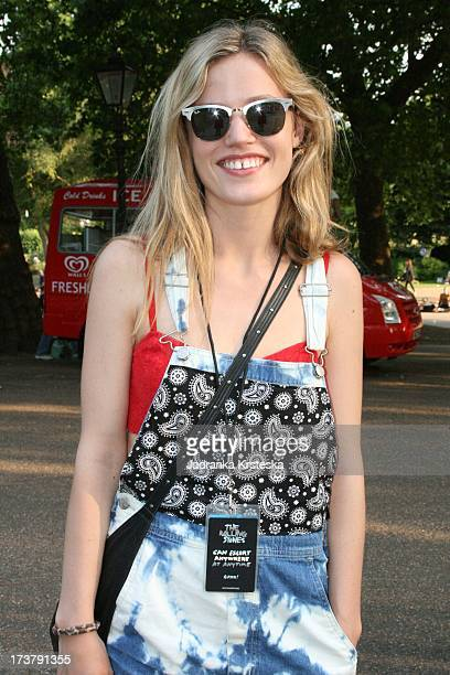 Georgia May Jagger daughter of Mick Jagger before the Rolling Stones appearance at Barclaycard Present British Summer Time Hyde Park on July 13 2013...