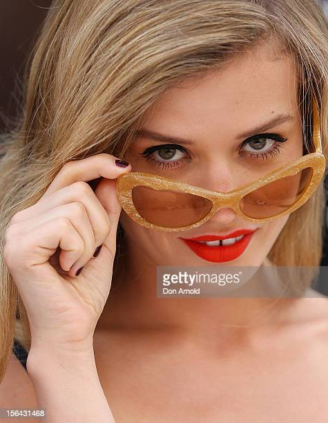 Georgia May Jagger poses during a Sunglasses Hut promotion at Darling Harbour on November 15 2012 in Sydney Australia