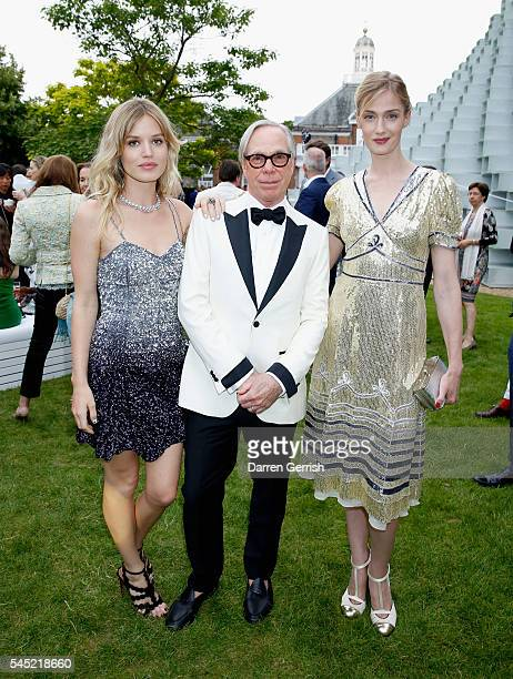 Georgia May Jagger Tommy Hilfiger and Eva Riccobono attends the Serpentine Summer Party cohosted by Tommy Hilfiger at the Serpentine Gallery on July...