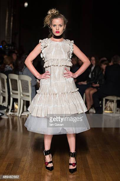 Georgia May Jagger walks the runway at the GILES show during London Fashion Week Spring/Summer 2016/17 on September 21 2015 in London England