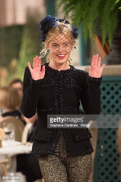Georgia May Jagger walks the runway during the 'Chanel Collection des Metiers d'Art 2016/17 Paris Cosmopolite' Show At Hotel Ritz on December 6 2016...