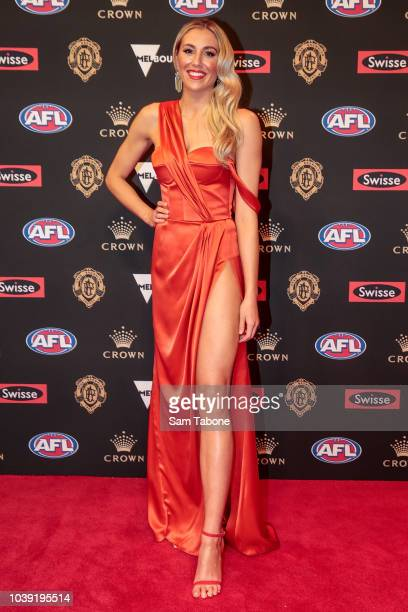 Georgia Minear attends 2018 Brownlow Medal at Crown Entertainment Complex on September 24 2018 in Melbourne Australia