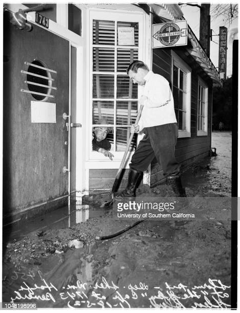 Georgia Newton, surveying damage at Beverly Glen Boulevard and Hebron Lane;Josie Newton, surveying damage at Beverly Glen Boulevard and Hebron...